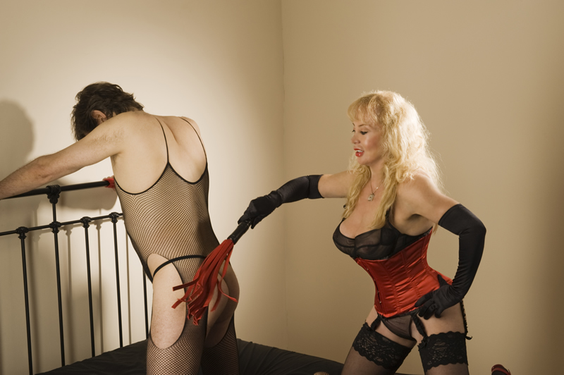 Mistress Tanya of London punishing slave